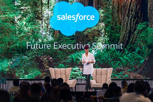 Photo of Natalie Harris speaking at Future Executive Summit at Dreamforce