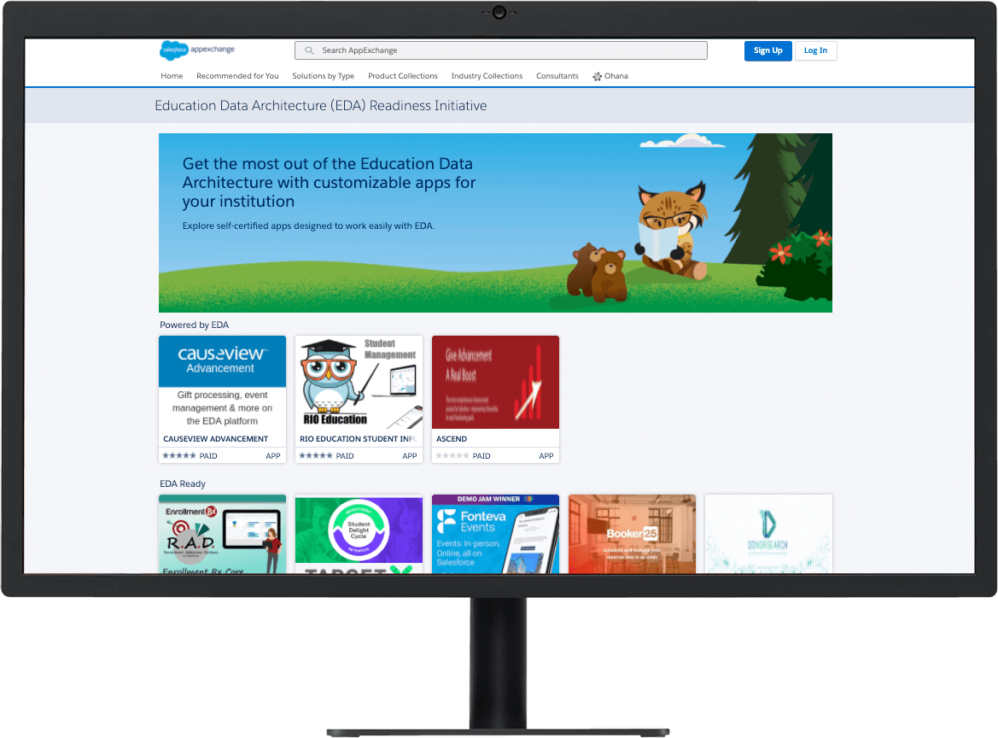 Education collections page on the Salesforce AppExchange