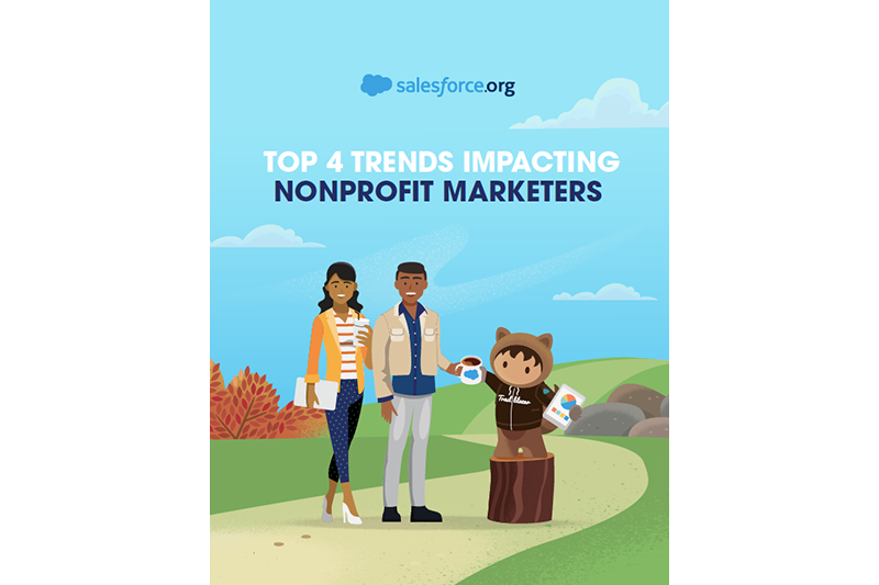 Top 4 Trends Impacting Nonprofit Marketers Guide cover photo