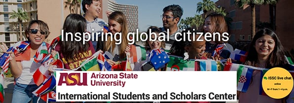 Arizona State University has a large international student population