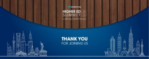 Thank you for joining us for Higher Ed Summit Virtual