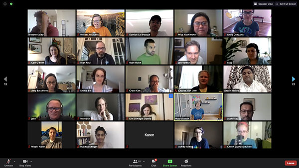 Screenshot of the community from the Salesforce.org Diversity Equity & Inclusion Mini Sprint in July, 2020.