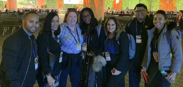 Melissa with PepUp Tech, one of HandsOn Connect's customers, at Dreamforce 2019.