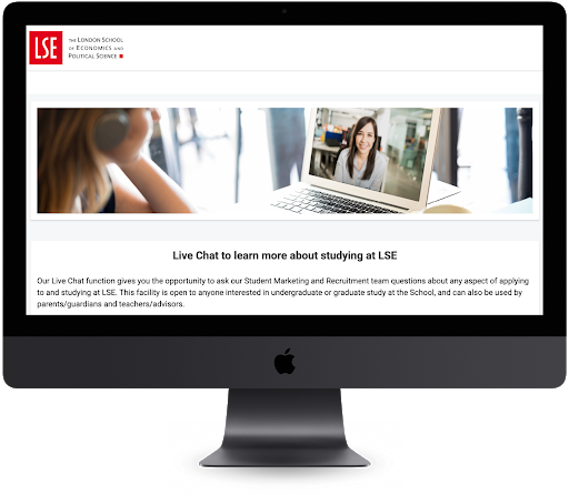 LSE implemented a Live Chat feature to help applicants engage with recruiters.