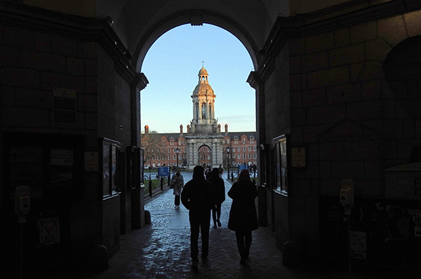The arched entrance into the Trinity College,