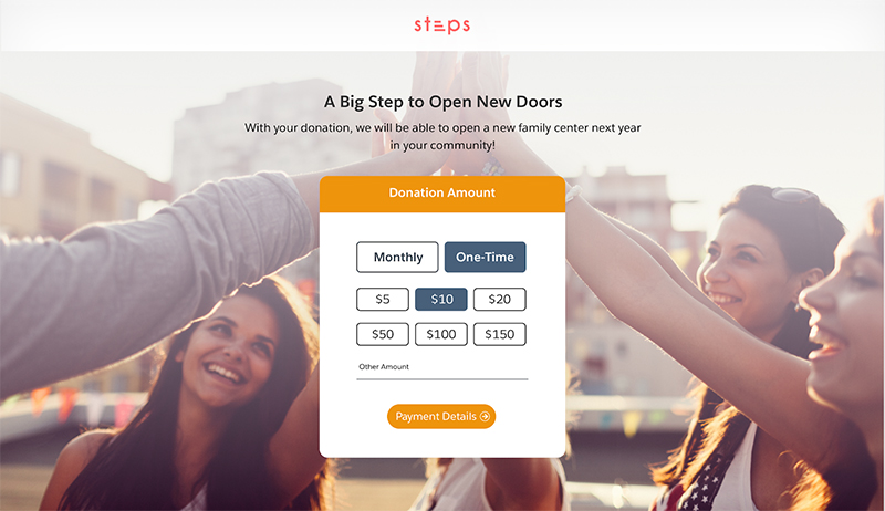 Launch campaigns quickly and easily with Giving Pages.