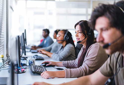 Service Cloud supports many call center needs.
