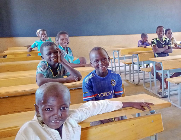 Young kids in a classroom
