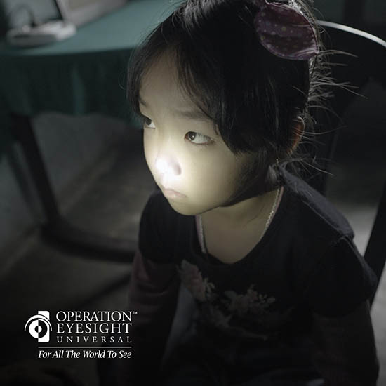 A young girl who's regained her eyesight