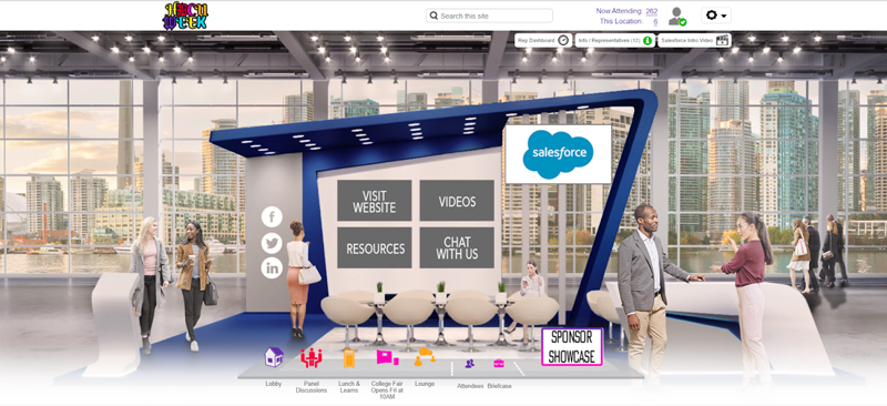 Virtual booth at an event