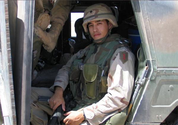 Sergio Alfaro, an Army veteran