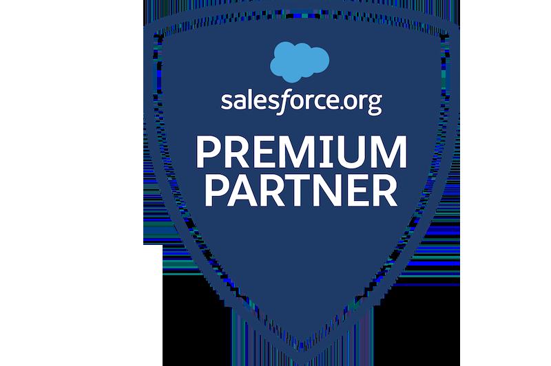 Salesforce.org premium partner badge