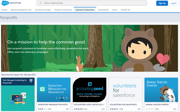 AppExchange Nonprofit Homepage