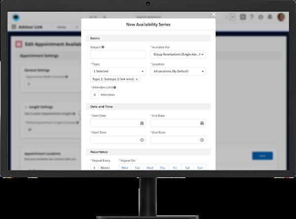 Screenshot of Advisor Link feature