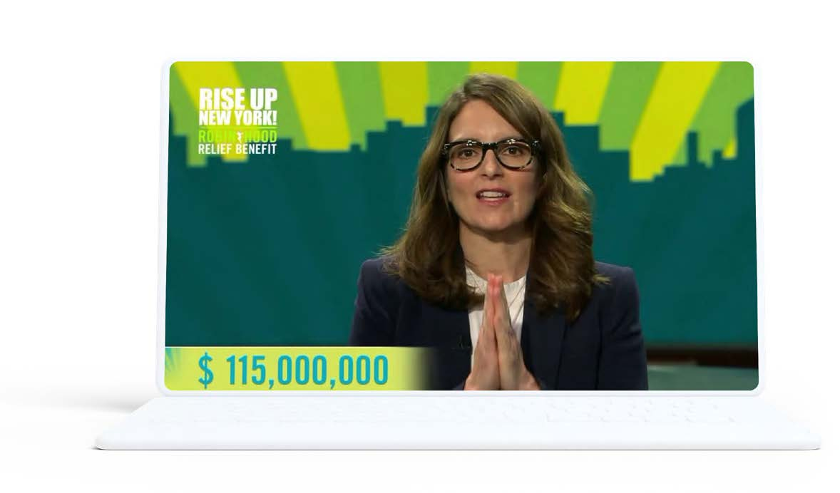 Tina Fey at the Rise Up New York! telethon