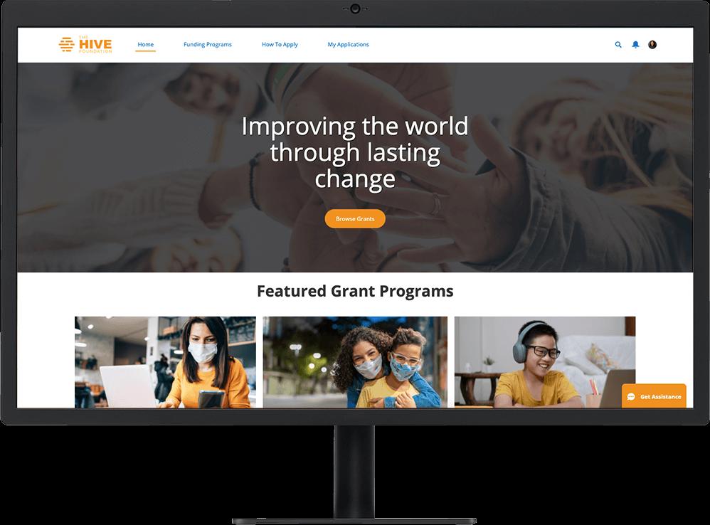 Grantee portal on a website making grants easier to find online