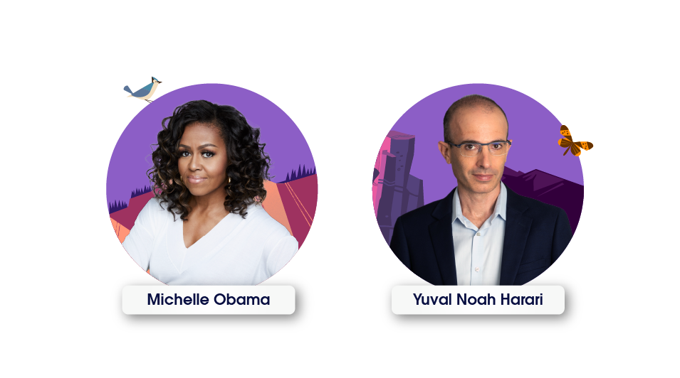 Education Summit 2021 speakers Michelle Obama and Yuval Noah Harari