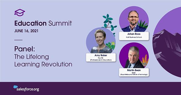 Graphic with headshots of panelists