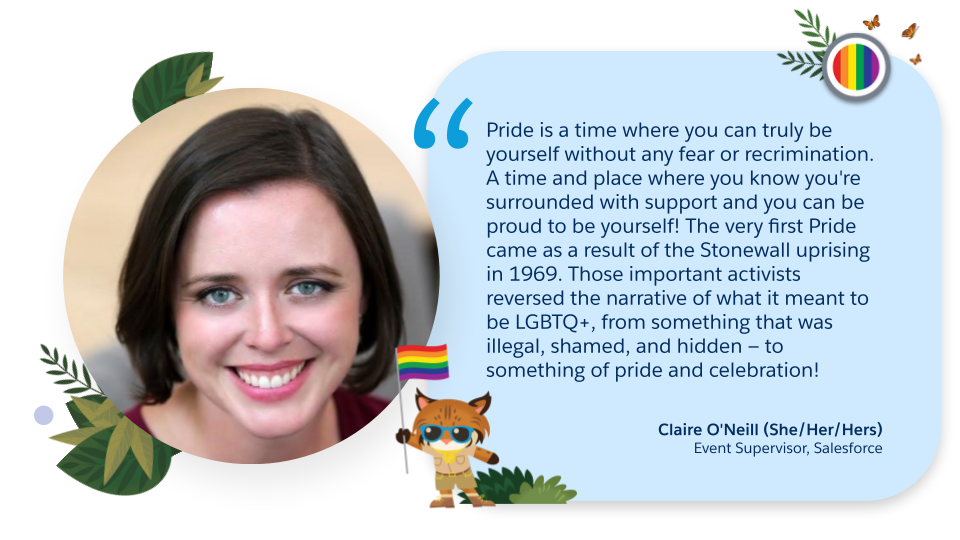 Claire O'Neill (she/her/hers), Event Supervisor at Salesforce quote