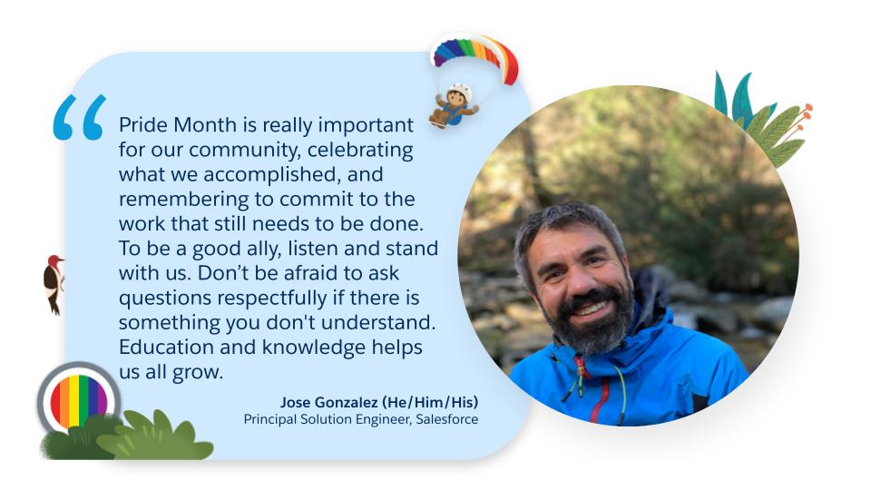Jose Gonzalez (he/him/his), Principal Solution Engineer at Salesforce quote