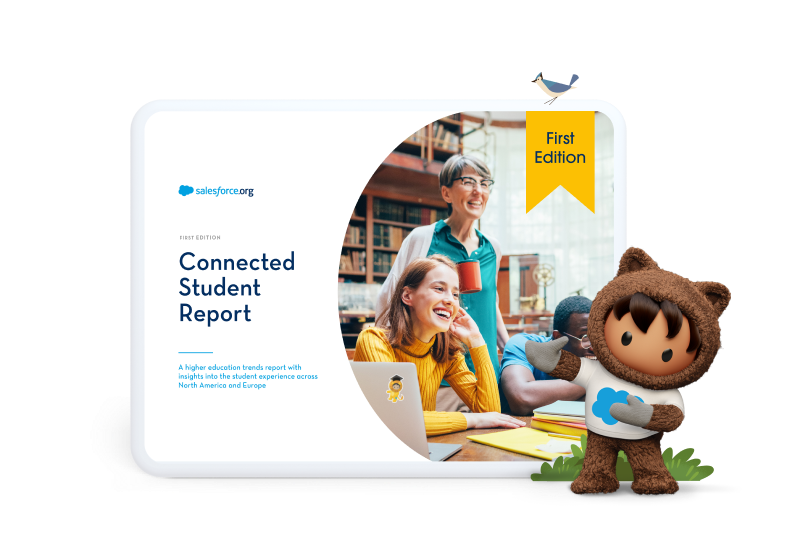 a tablet showcasing the first edition of the Connected Student Report