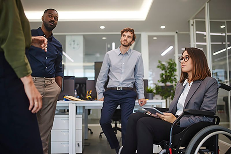 Diverse team of employees in the workplace