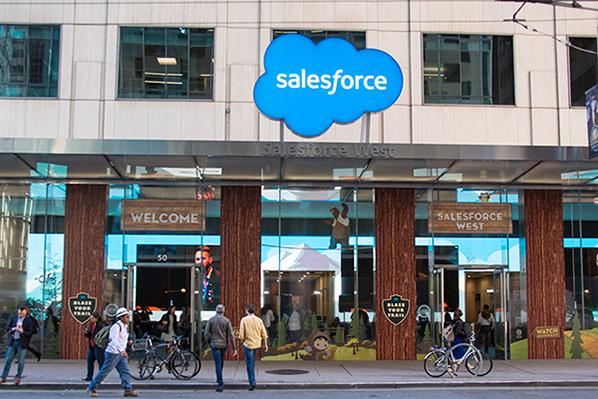 Salesforce West entrance on Mission Street