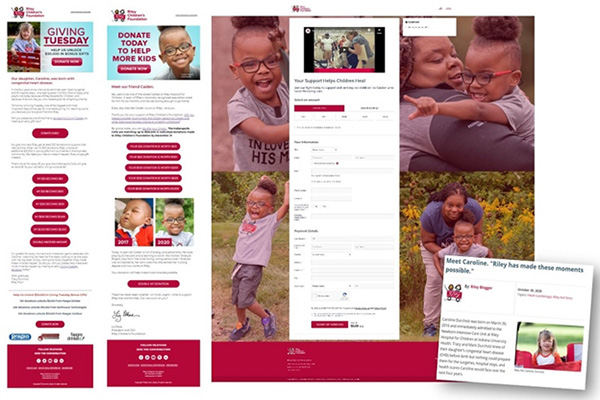 Screenshot of marketing campaign