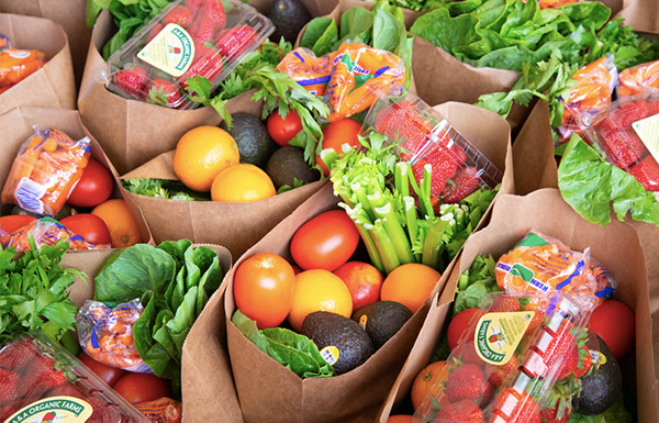 Bags of produce