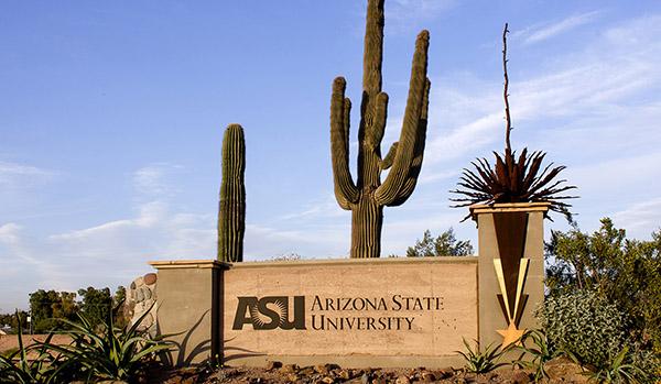 Arizona State University sign