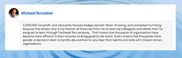 Screenshot of social media comment